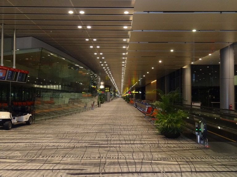 Changi is calm and serene at all times
