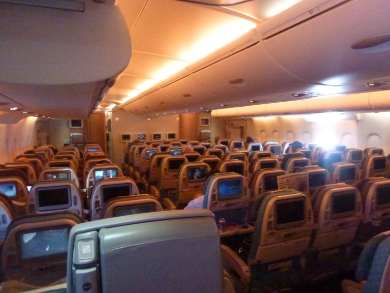 Overview of A380 lower deck