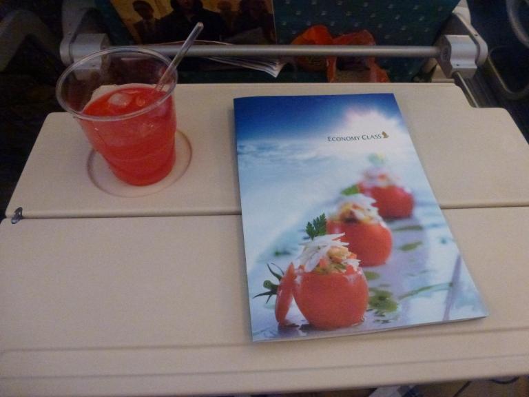 A pre-takeoff Singapore Sling!
