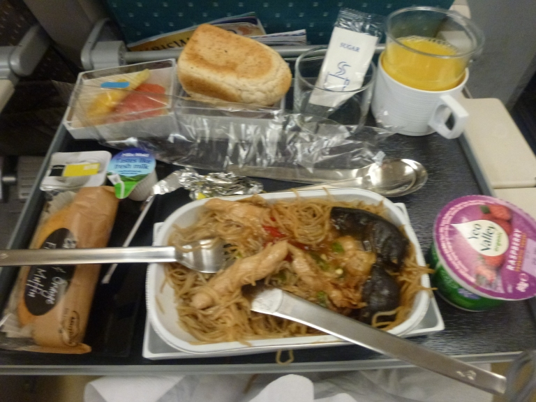 One of the two ultra-longhaul meals