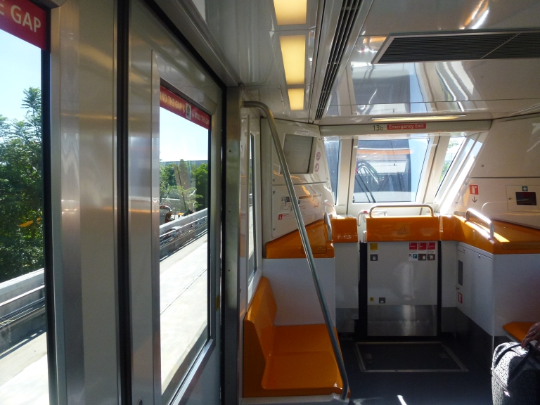 Onboard the monorail!