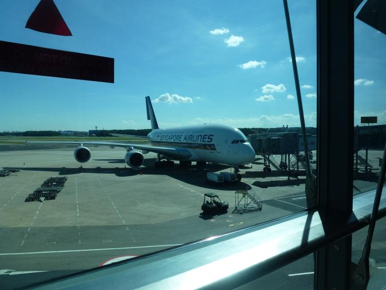The SQ A380 at Changi