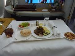 Lunch is served in EK's suites