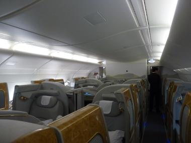The impressive EK first class cabin
