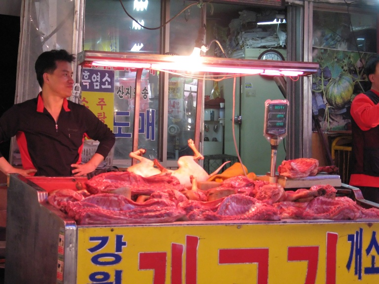 Dog is considered a local delicacy by some Koreans