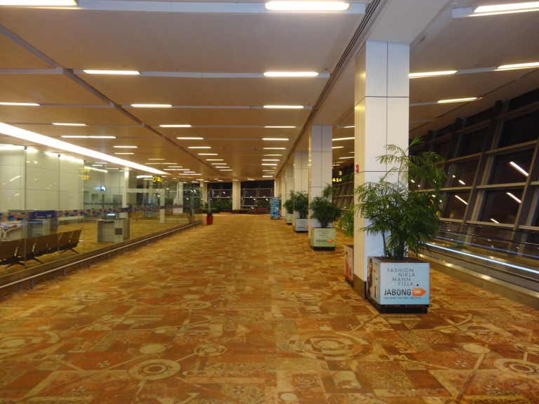 Early morning at Indira Gandhi International Airport, Terminal 3