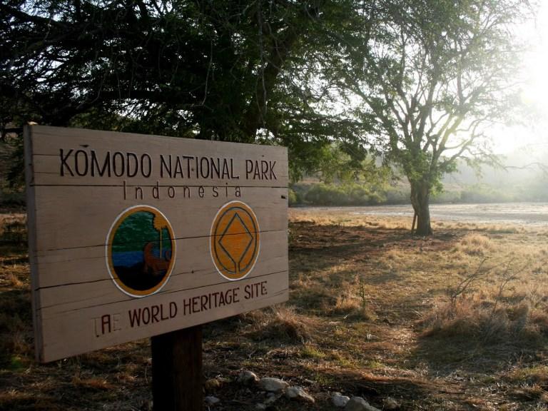 Komodo National Park Sign