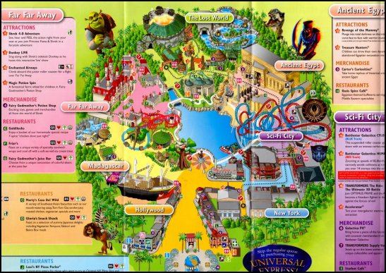 The latest map of Universal Studios Singapore