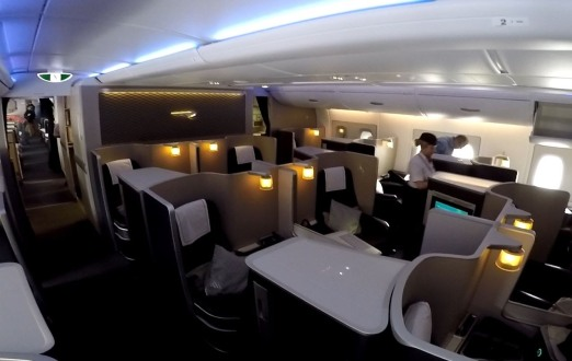 First class on the BA A380