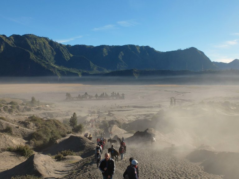 The scenery is amazing around Mount Bromo (but be careful of toxic fumes)