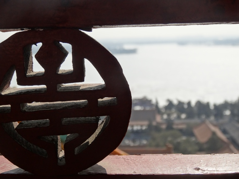 Looking down at Kunming Lake