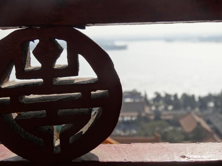 Looking down at Kunming Lake