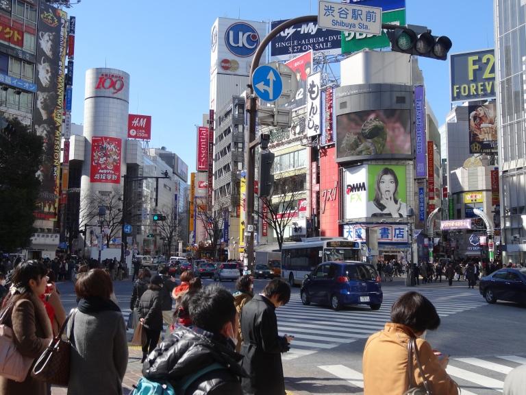 Shibuya Crossing is always manic