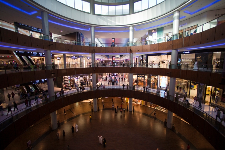Inside the gigantic Dubai Mall