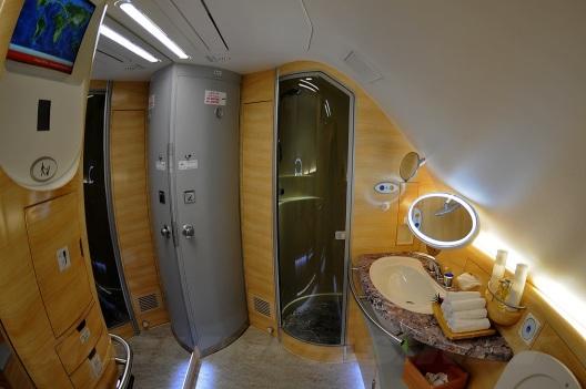 Emirates A380 First Class Shower Spa