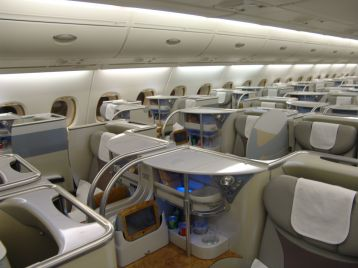 Business Class on Emirates A380