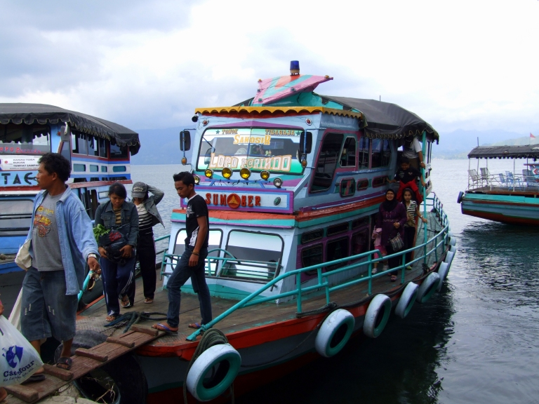Take the ferry across to Samosir