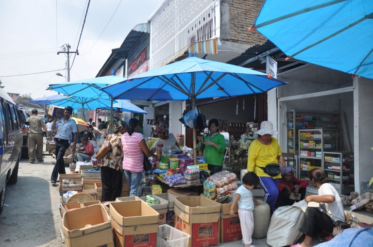Marketplace in Parapat