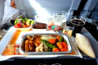 A typical Economy meal on Lufthansa