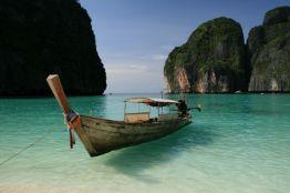 Thai long boat at Maya Bay