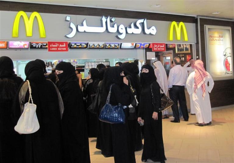A busy lunchtime in Riyadh