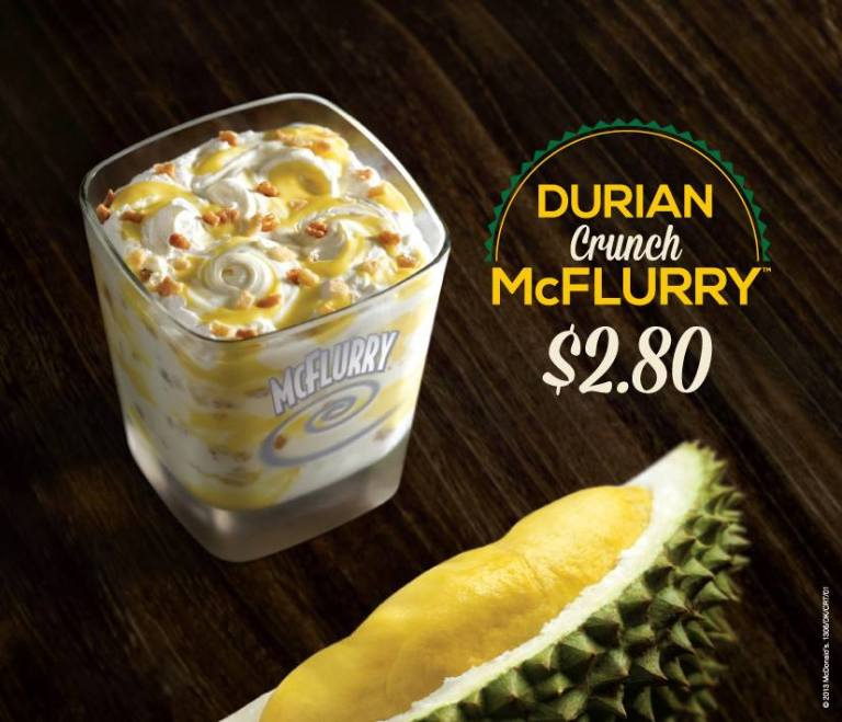 Think of how many Durian McFlurry's you could buy!