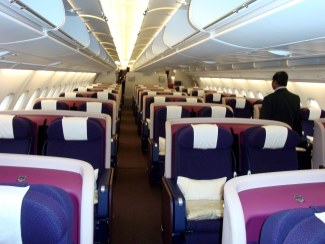 Malaysia Airlines A380 Business Class