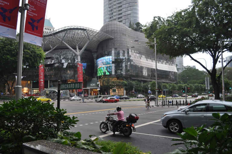 The famous ION façade on Orchard Road