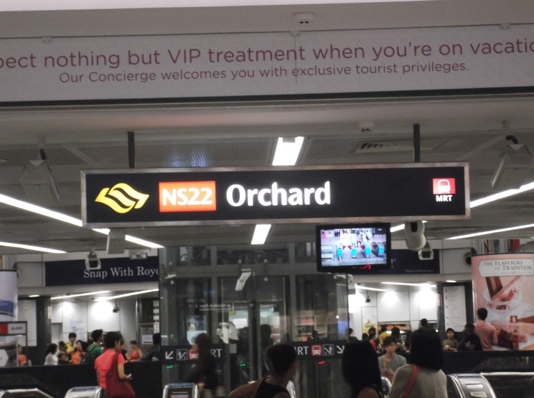 Orchard MRT can take you pretty much anywhere in Singapore