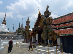 Inside the grounds of the Grand Palace in Bangkok