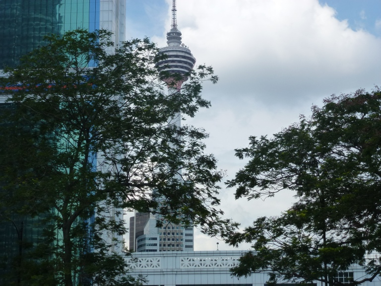 The KL Menara Tower from afar