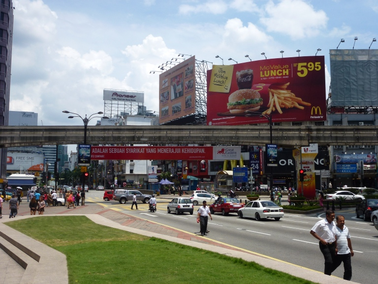 The frenetic pace of Bukit Bintang (cheap McDonald's, too!)