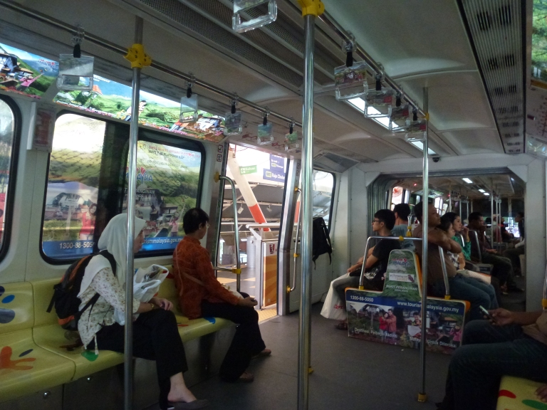 Onboard the KL Monorail