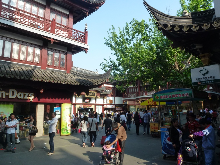 Walking to the Gardens through the Bazaar