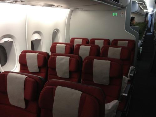 Economy Class seating