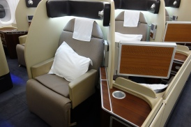 First Class seat on the Qantas A380