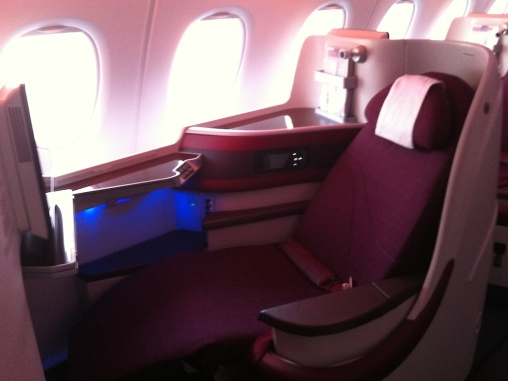 Business class on the A380
