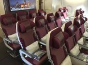 Economy class on Qatar's A380