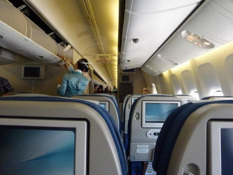 Flying from Tokyo to Seoul on a Korean Air A330