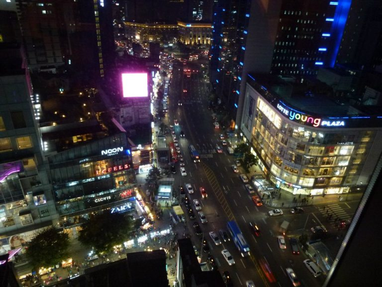 A great view over Myeongdong from the bar!