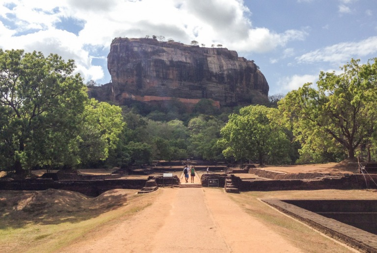 On my way to climb Sigiriya