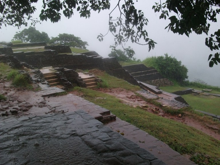 The remains of Sigiriya's long-since-destroyed citadel