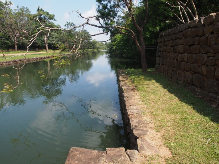 There are lots of moats around Sigiriya Rock