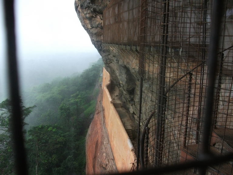 Walking up the stairs of Lion's Rock was a nervous affair, and the weather took a turn for the worse!