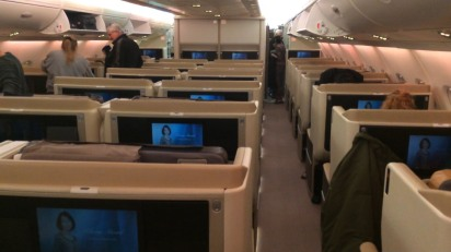 Business Class on the SQ A380