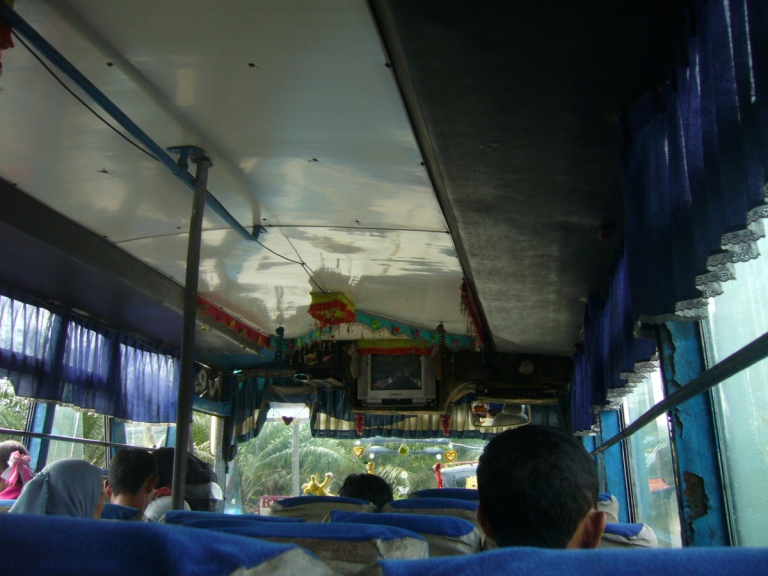 Small minibuses in Sumatra are for tourists