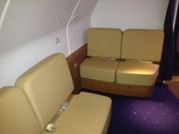 The business class lounge area
