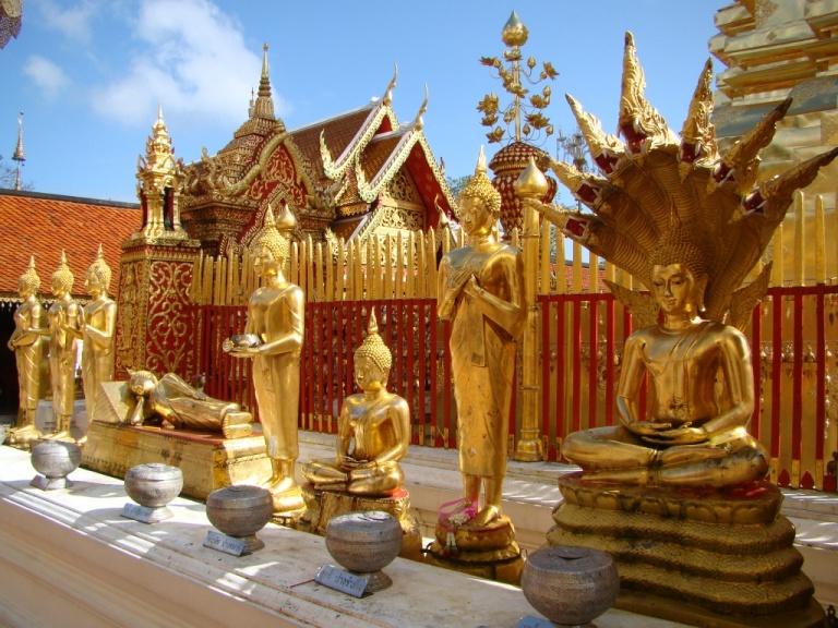 Golden Buddhas at Wat Phrathat Doi Suthep