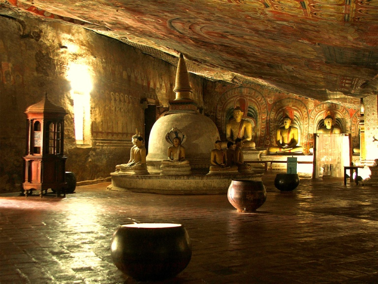 Dambulla Caves are a nice option close to Sigiriya