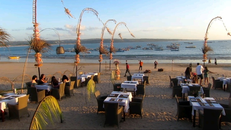Jimbaran in Bali is famous for its seafood